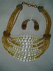 Coppola e Toppo Champagne 8 Strand Necklace Set