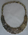 Taxco Sterling Silver Necklace ~Mayan Cross~ Patino