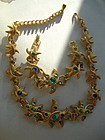 Vintage TRIFARI  Jeweled Starfish Necklace & Bracelet