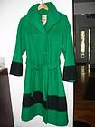Vintage Hudson's Bay Womans Coat Green Sz 8
