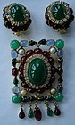 Vintage Hattie Carnegie Brooch & Earrings STUNNING!
