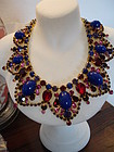 Huge JULIANA Rhinestone Bib Necklace for WEISS