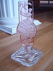 Antique Czech Glass Pink Perfume Bottle Dancer