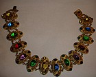 Antique Czech Glass Cabachon Necklace