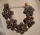 Miriam Haskell Seed Pearl & Rhinestone Floral Bracelet
