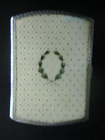 Austrian Sterling Guilloche Enamel Cigarette Case
