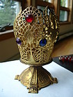 Jeweled Ormolu Candle Holder Votive ~ Swift & Fisher