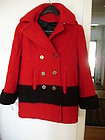 Ladies Hudson's Bay Wool Jacket Coat Size 6 ~ Like New