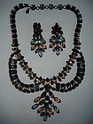 Vintage Schreiner Runway Rhinestone Necklace Set