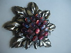 Wow! Joseff of Hollywood Large Dragon's Breath Brooch