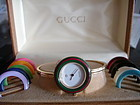 Vintage Gucci 1100-L Bangle Watch with Bezels in Box