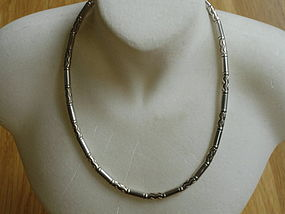 Tiffany & Co Germany Sterling Silver  Carved Necklace