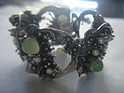 HUGE Sterling 835 Silver Modernist Bracelet  ~  Germany