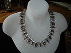 Stunning Art Deco SAPHIRET Glass Rhinestone Necklace