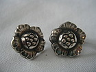 Georg Jensen Denmark Vintage Sterling Earrings 53
