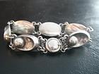 Niels Eric From Sterling Denmark Silver Pearl Bracelet