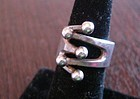 Anna Grete Eker Norway Sterling Silver Modernist Ring