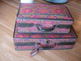 Vintage MOD Tapestry Hartmann Luggage Set