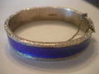 Norway Sterling Silver Enamel Aksel Holmsen Bracelet