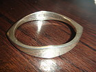 GA Denmark Danish Modernist Sterling Bangle Bracelet