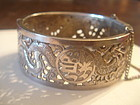 Chinese Sterling Silver Dragon Filigree Bracelet