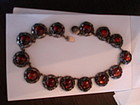 Vintage Niels Erik From Denmark Sterling Silver Amber Necklace