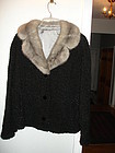 Elsa Schiaparelli Persian Lamb Jacket Silver Mink Collar