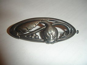 Georg Jensen Denmark Sterling Silver Brooch Pin 178 GJ Mark