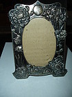 Antique Chinese Export Silver 90 Picture Frame Chrysanthemum 4 1/2x 6