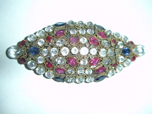 Huge Hobe Wirework Rhinestone Brooch