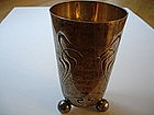 German 800 Silver Sterling Wine Cup Nouveau 1906
