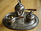 Mexican Sterling Silver Tea Set w/Tray Blossoms