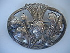 KALO Sterling Silver Thistle Brooch w/ Jarvie Shops Box