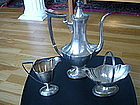 Early 1900 Gorham Sterling Silver Plymouth Coffee Set