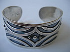 Mexican Sterling Silver Cuff Bracelet CM TAXCO