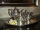 1908 Reed & Barton Sterling Silver Tea Set Hepplewhite