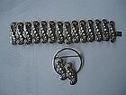 Mexican Sterling Silver Bracelet + Pin Johanna Van Ryn