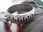 Mexican TAXCO Sterling Silver Bangle Bracelet
