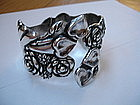 Mexican Sterling Silver Clamper Hinged Bracelet TAXCO