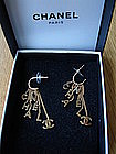 CHANEL CC Logo Dangle Earrings
