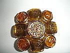 CHANEL Gripoix Glass Brooch Champagne Color