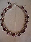 Trifari Alfred Phillipe Art Deco Ruby Necklace