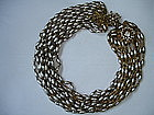 Vintage Miriam Haskell 12- Strand Pearl Necklace
