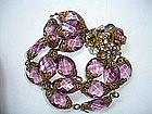 Miriam Haskell Amethyst Glass Bracelet