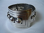 Vintage Mexican TAXCO Sterling Silver Clamper Bracelet