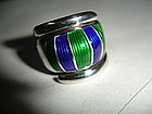 David Andersen Norway Sterling Silver Enamel Ring