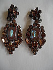 Fabulous JULIANA Drop Earrings w/ Large SAPHIRET
