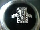 Art Deco Diamond Ring 14K White Gold