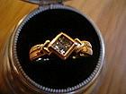 Fine 18K Gold Princess Cut Diamond Ring 4.2 grams