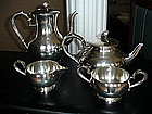J. Tostrup Norway Sterling 830S Silver Coffee + Tea Set